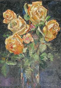 Павел Николаевич Филонов. Желтые розы