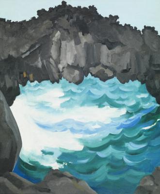 Georgia O'Keeffe. Black Lava Bridge, Hāna Coast, No. 1