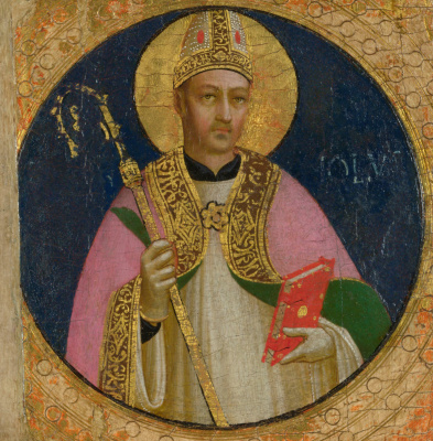Fra Beato Angelico. Saint Romulus Medallion of the altar of the church of St. Dominic in Fiesole
