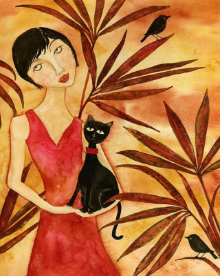 Деби Хаббс. Девушка с котом
