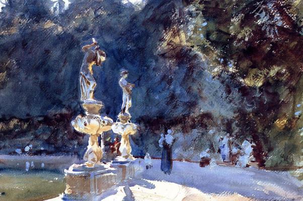 John Singer Sargent. Florence. Fountain in Boboli gardens