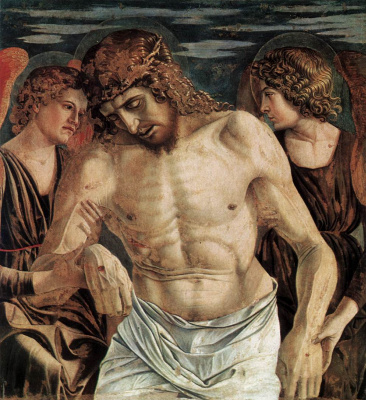 Giovanni Bellini. Polyptych of San Vincenzo Ferreri. Fragment. Angels support Christ