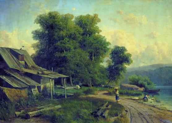 Fedor Alexandrovich Vasilyev Russia 1850 - 1873. Landscape. Pargolovo (View in Pargolovo). 1868