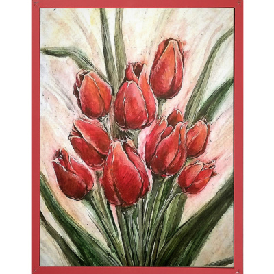 Elena Lobanova. Red tulips