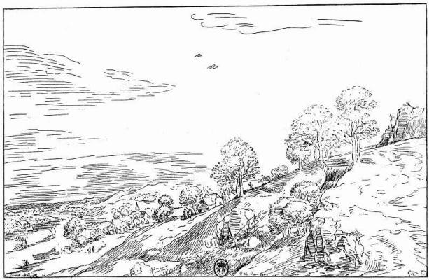 Pieter Bruegel The Elder. The hill above the river