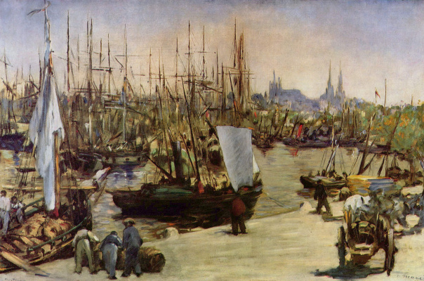 Edouard Manet. The harbour at Bordeaux