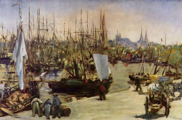 Edouard Manet. The harbour at Bordeaux