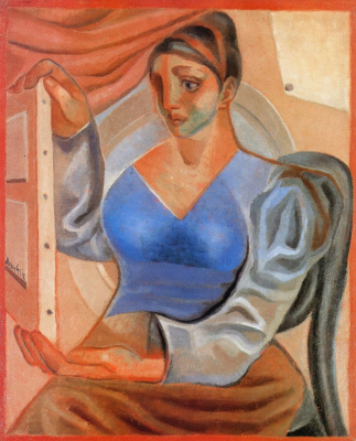 Juan Gris. The woman with the picture