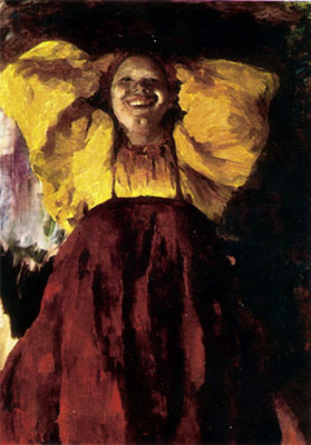 Philip Andreevich Malyavin. The woman in yellow