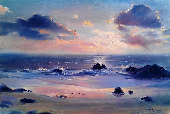 Lydia Lee. Sunset on the sea