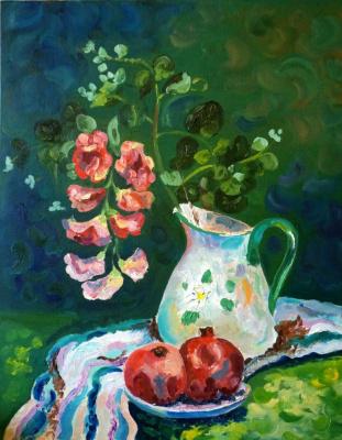 Ekaterina Viktorovna Mitrofanova. Still life with pomegranates