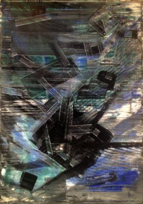 Игнат Матвеев. За черной дырой, 70х50см, Х,М, Игнат Матвеев, Москва 2016