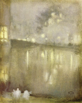 James Abbot McNeill Whistler. Nocturne: Grey and gold - canal, Holland