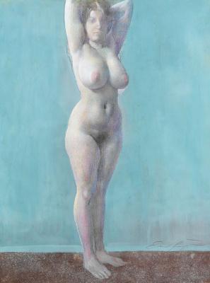Ernst Fuchs. Standing Nude