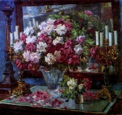 Alexander Mikhailovich Gerasimov. Roses. 1953