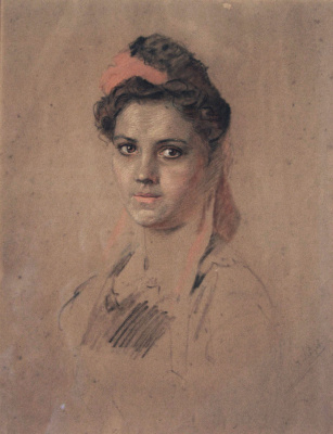 Александр Игнатьевич Лебедев. Женский портрет