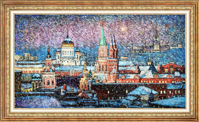 Igor Razzhivin. Over Moscow sweep snowstorms