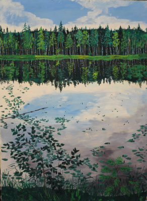Vladimir Adamovich Ropot. Still water