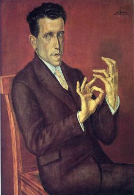 Otto Dix. Portrait of the lawyer Hugo Simons