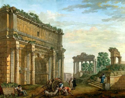 Шарль-Луи Клериссо. Арка Септимия Севера в Риме