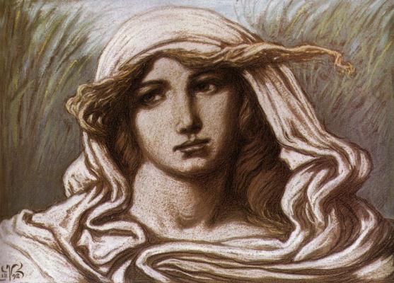 Элиу Веддер. Голова молодой женщины