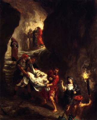 Эжен Делакруа. Погребение Христа