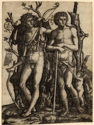 Marcantonio Raimondi. Apollo and Hyacinth