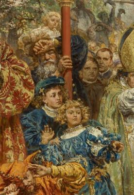 Ян Матейко. Подвешивание колоколов Зигмунта на башню собора в Кракове в 1521 году. Фрагмент