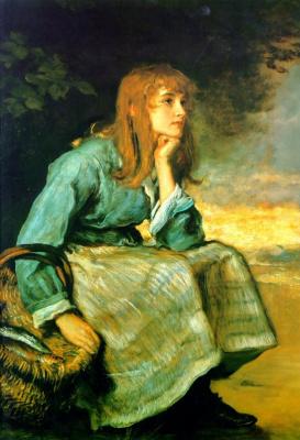 Джон Эверетт Милле. Свежий ветер. Портрет юной девушки с корзиной