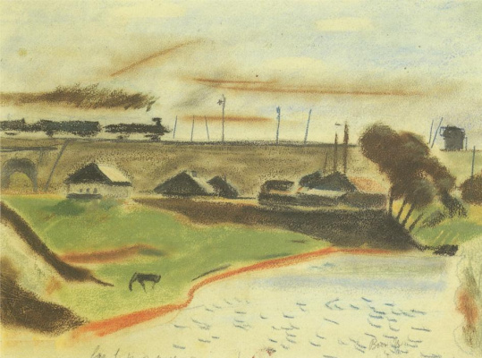 Alexander Alexandrovich Deineka. Landscape with train