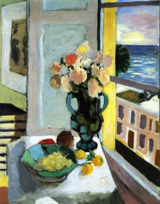 Анри Матисс. Кустовые розы напротив окна