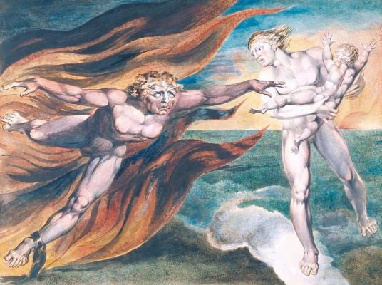 William Blake. Good and evil angel