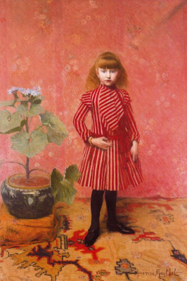 Aristide Mayol. Girl in red