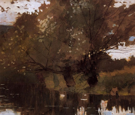 Winslow Homer. Willow by the pond
