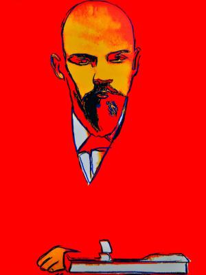 Andy Warhol. Red Lenin