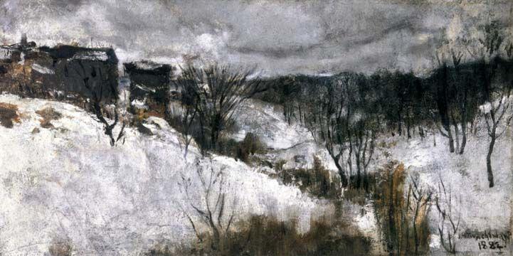 John Henry Twachtman. Snow