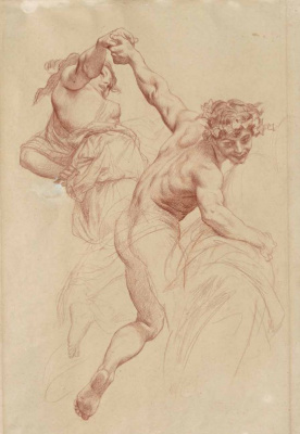 """Alexandre Cabanel. Study to the ceiling """"Triumph of Flora."""" (From the collection of SM Tretyakov)."""