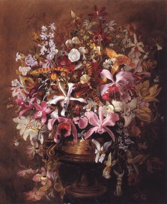 Уильям Иаков Хейс. Букет  орхидей