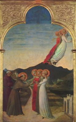 Сассетта. Обручение святого Франциска с Бедностью