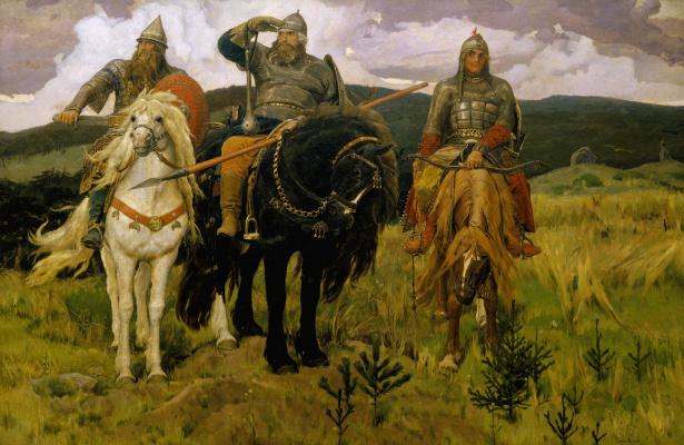 Viktor Mikhailovich Vasnetsov. Heroes