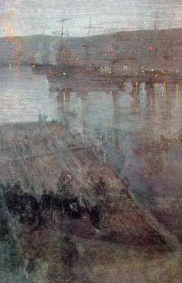 James Abbot McNeill Whistler. Nocturne in blue and gold. The Bay Of Valparaiso