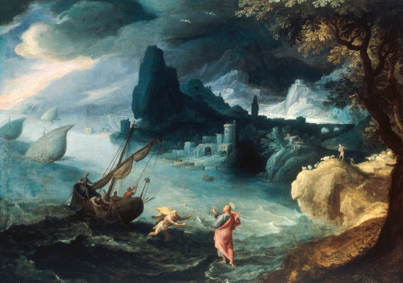 Paul Brill. The appearance of Christ on the sea of Galilee. 1590