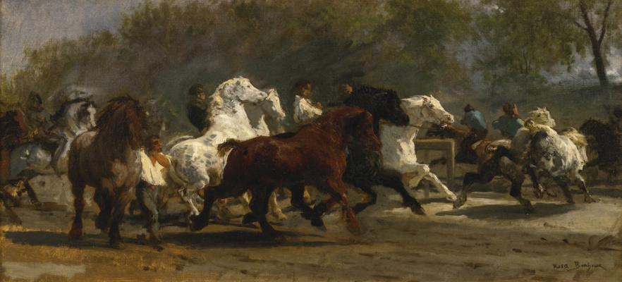 Rose Bonhur. The horse fair. Sketch