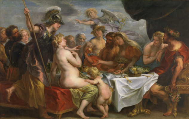Якоб Йорданс. Marriage of Peleus and Thetis