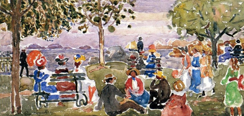 Maurice Braziel Prendergast. Park in Gloucester