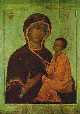 Icon Painting. The Icon Of The Mother Of God