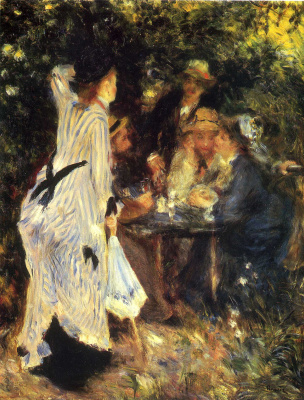 Pierre-Auguste Renoir. In the Garden. Under the Trees of Moulin de la Galette
