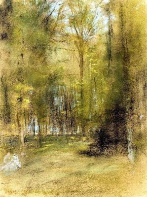 Edgar Degas. The undergrowth