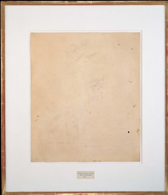 Robert Rauschenberg. Erased de Kooning drawing