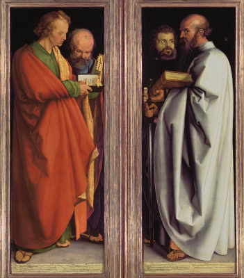 Four Apostles (John, Peter, Mark, Paul)